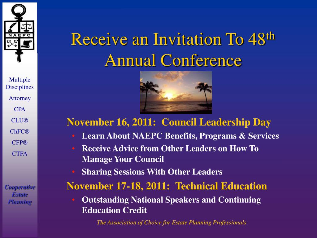 Receive an Invitation To 48