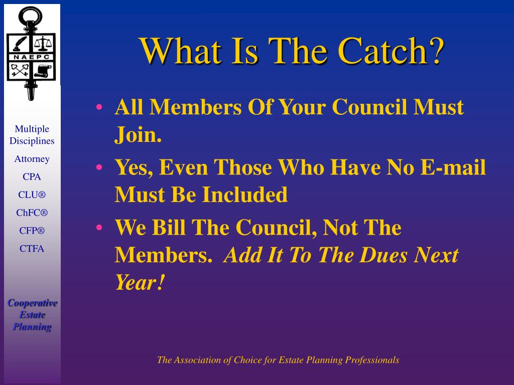 What Is The Catch?