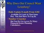 why does our council want leimberg16