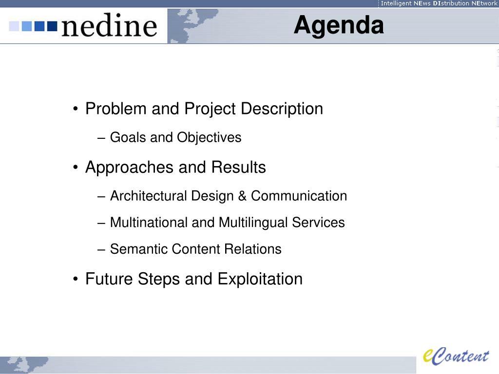 Problem and Project Description