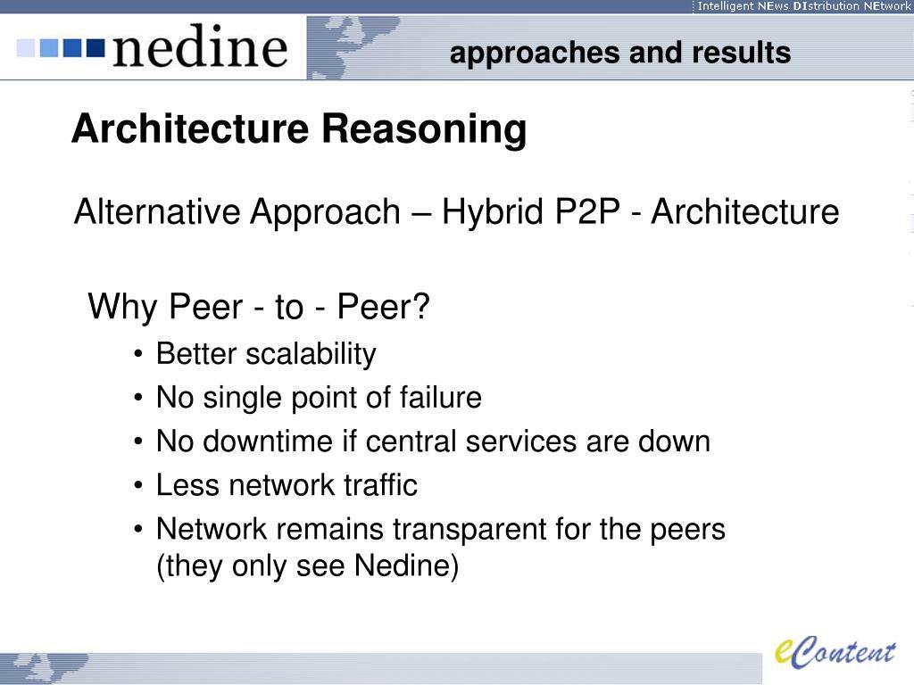Alternative Approach – Hybrid P2P - Architecture