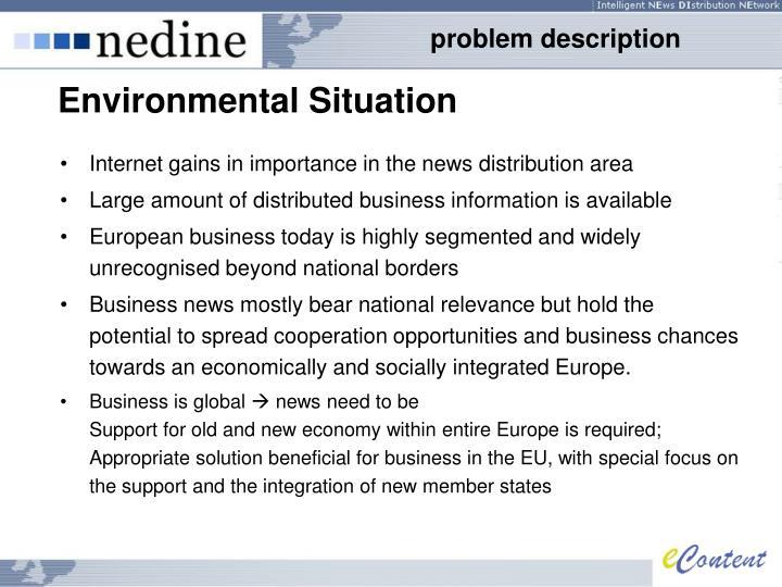 Environmental situation