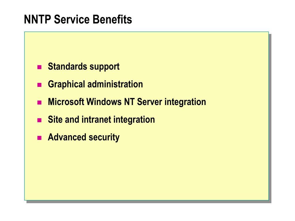 NNTP Service Benefits