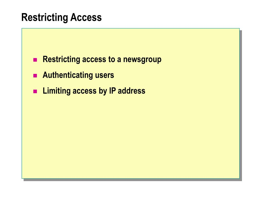 Restricting Access
