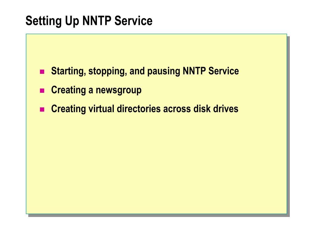 Setting Up NNTP Service