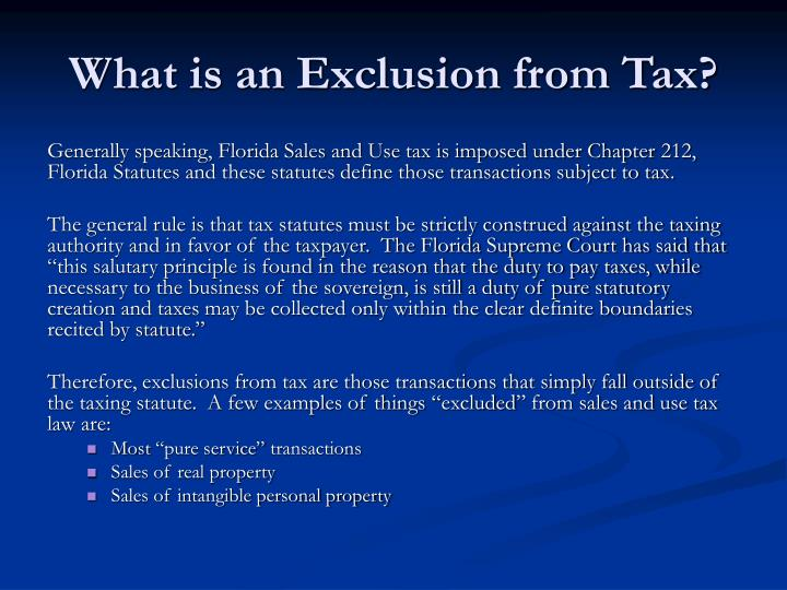 What is an Exclusion from Tax?