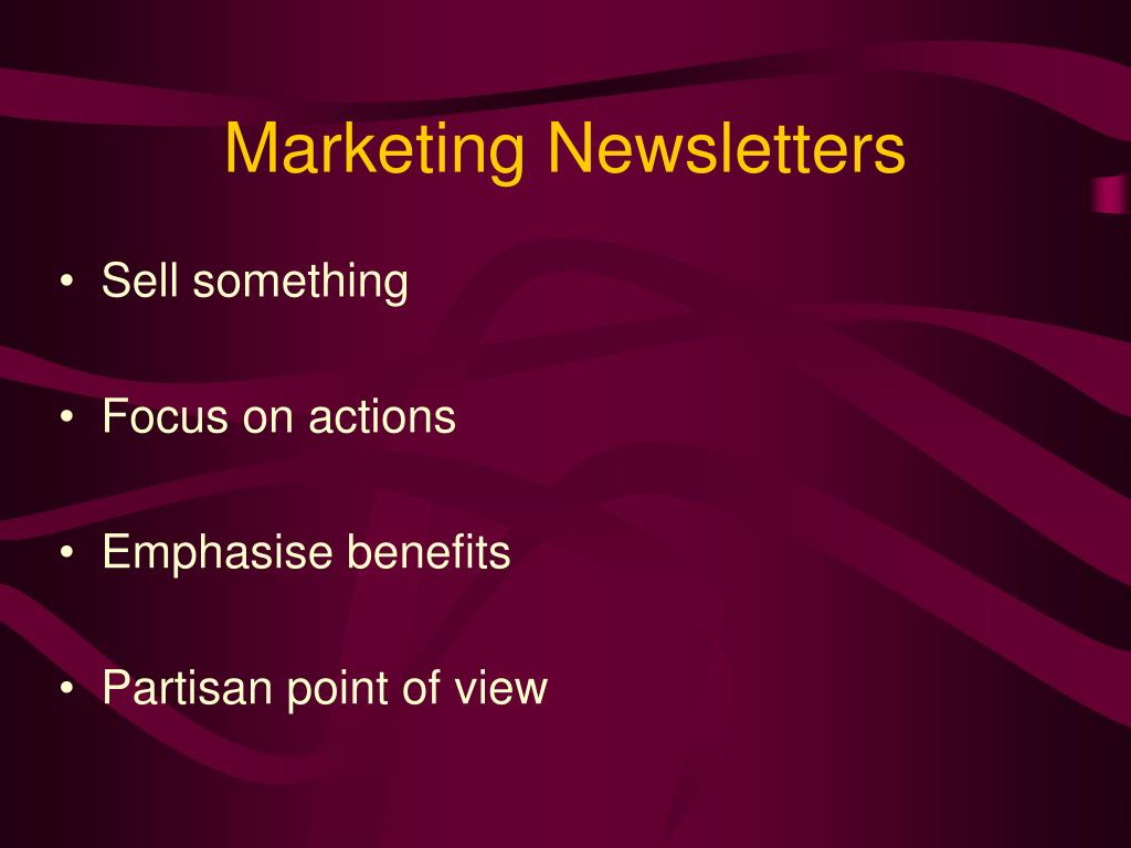 Marketing Newsletters