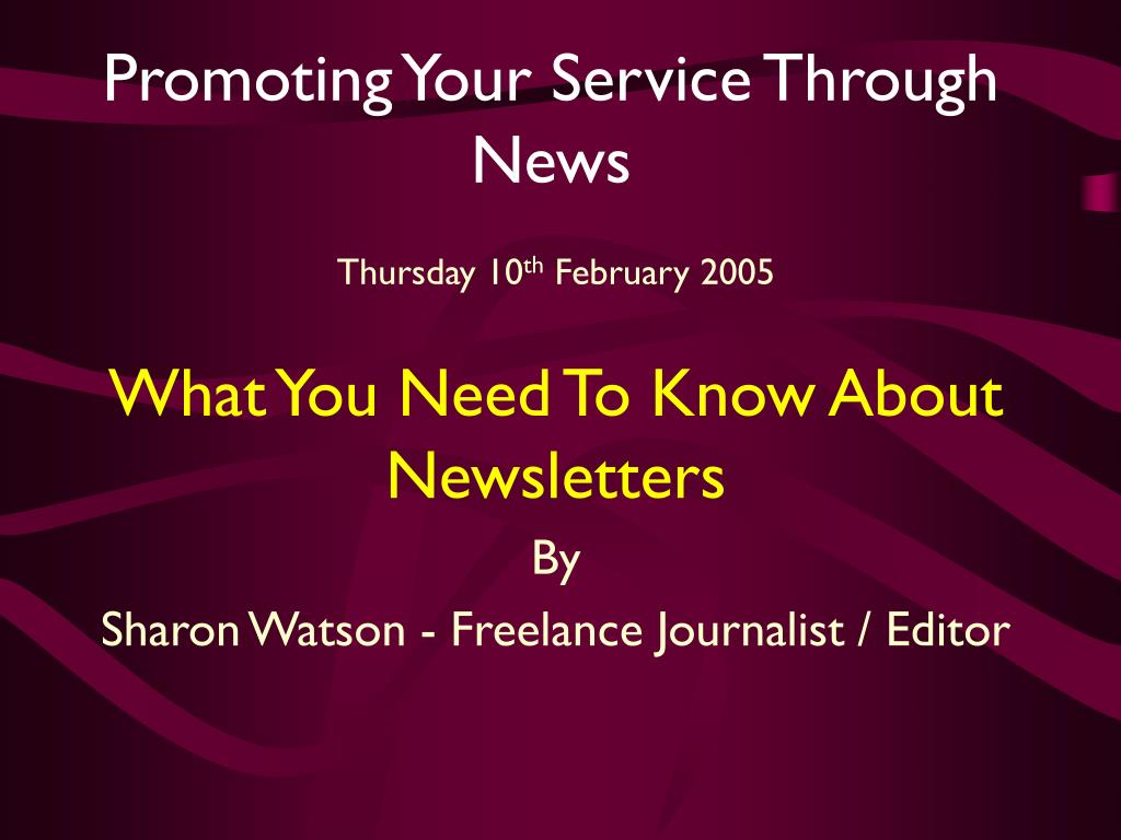 promoting your service through news l.