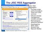 the jisc rss aggregator