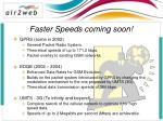 faster speeds coming soon