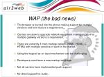 wap the bad news