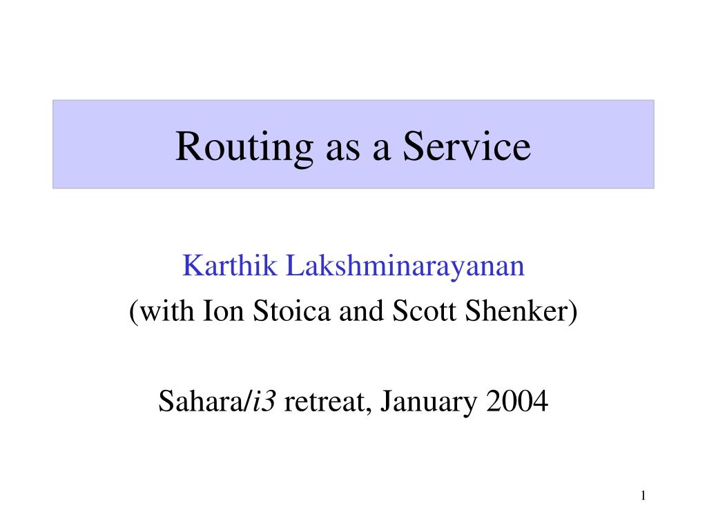 routing as a service l.