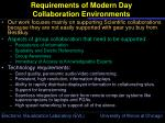 requirements of modern day collaboration environments