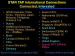 star tap international connections connected interested