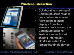 wireless interaction