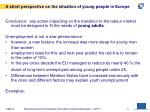 a short perspective on the situation of young people in europe5