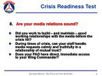 crisis readiness test49
