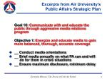 excerpts from air university s public affairs strategic plan12