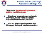 excerpts from air university s public affairs strategic plan13