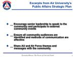 excerpts from air university s public affairs strategic plan9
