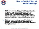 how to set up editorial board meetings20