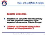 rules of good media relations29