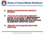 rules of good media relations30