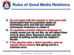 rules of good media relations31