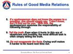 rules of good media relations32