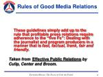 rules of good media relations33