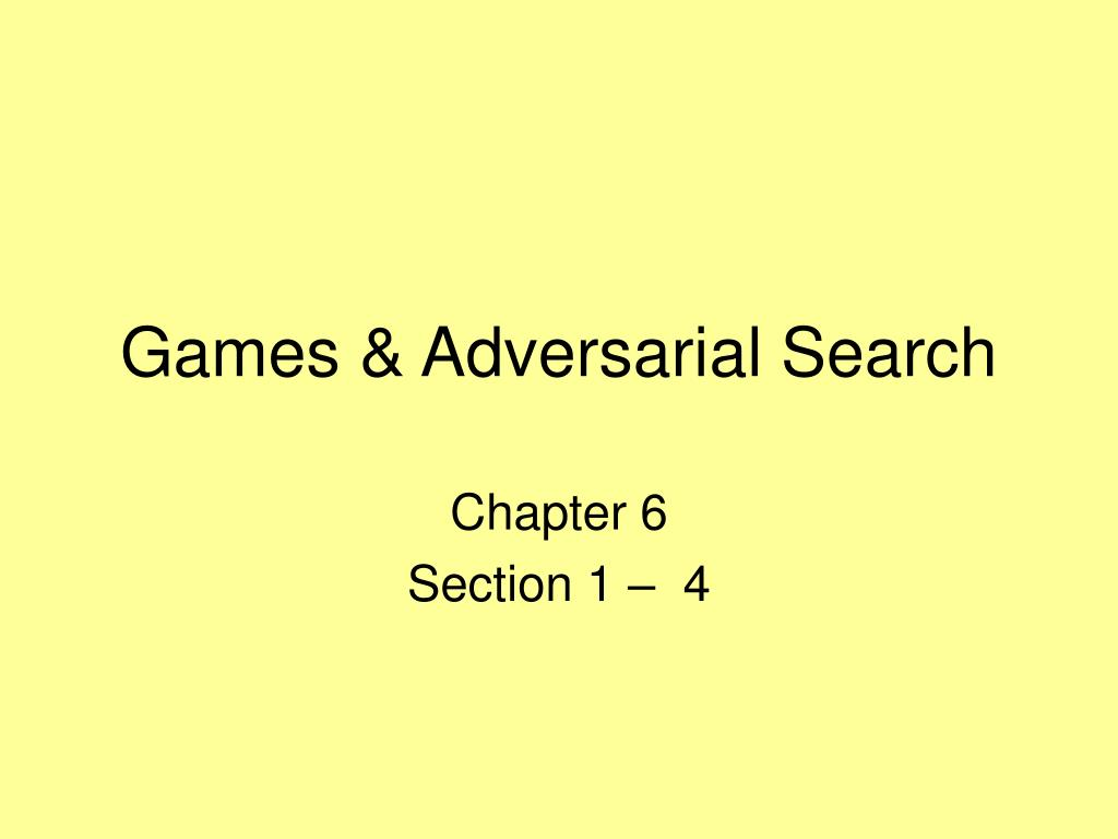 games adversarial search l.