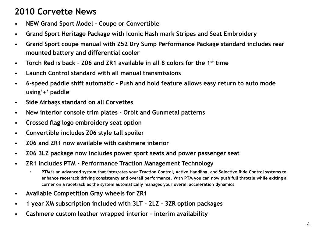 2010 Corvette News