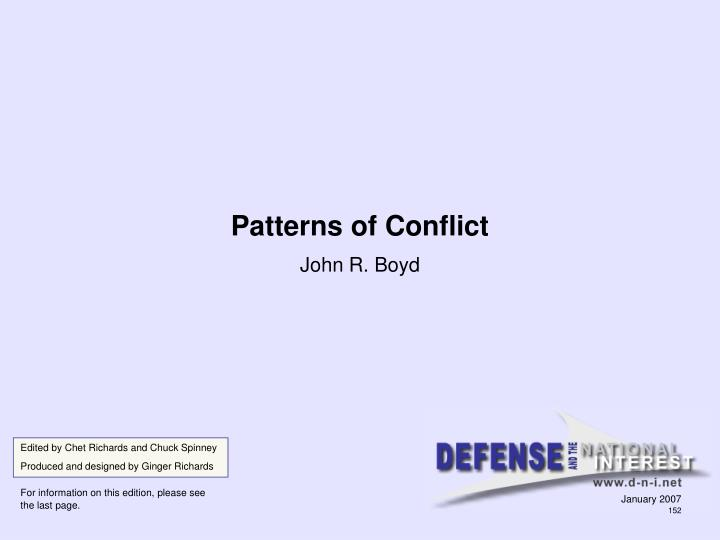 patterns of conflict n.