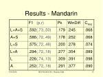 results mandarin