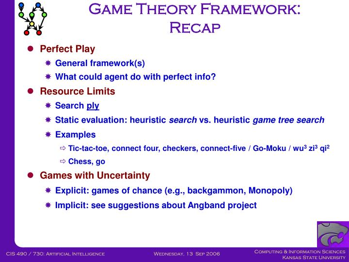 Game Theory Framework: