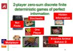 2 player zero sum discrete finite deterministic games of perfect information8