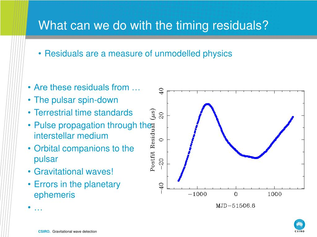 What can we do with the timing residuals?