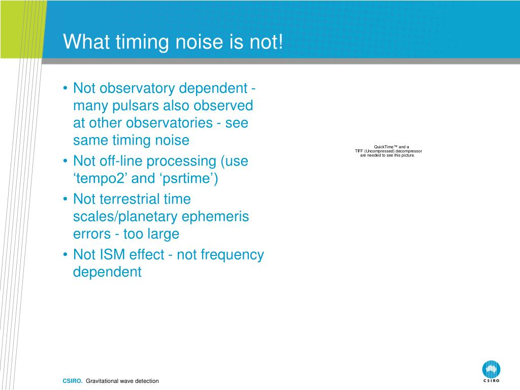 What timing noise is not!