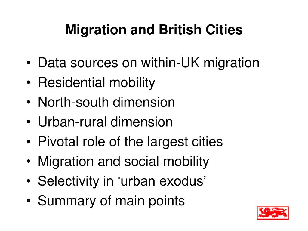Migration and British Cities