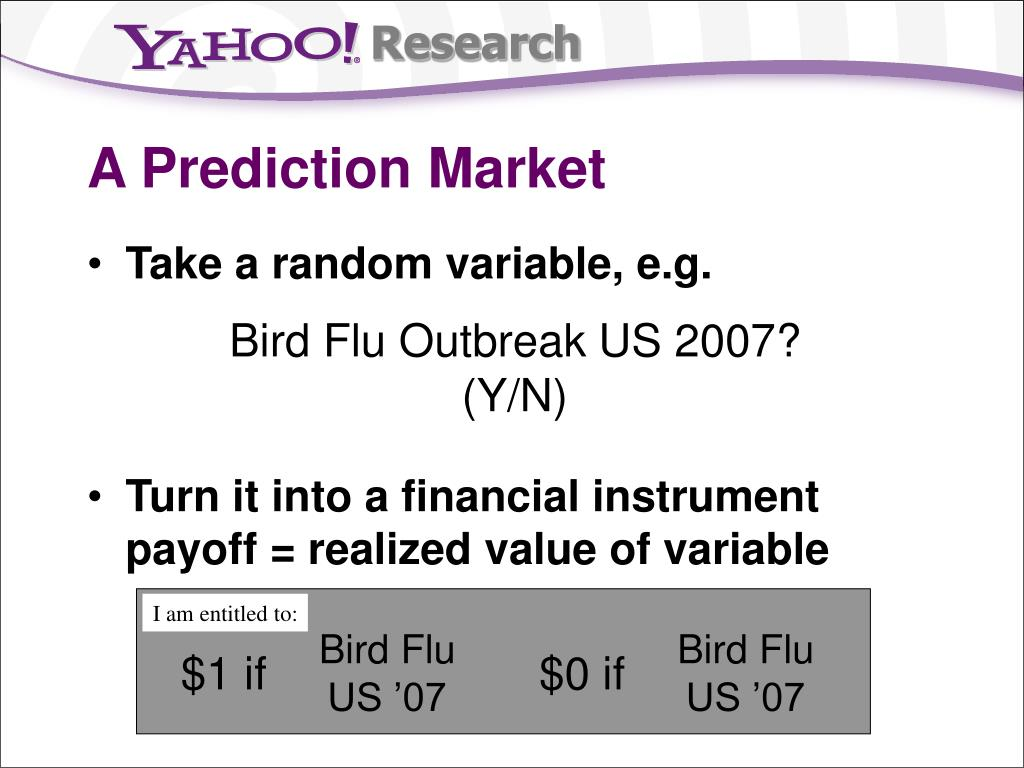 A Prediction Market