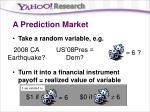 a prediction market8