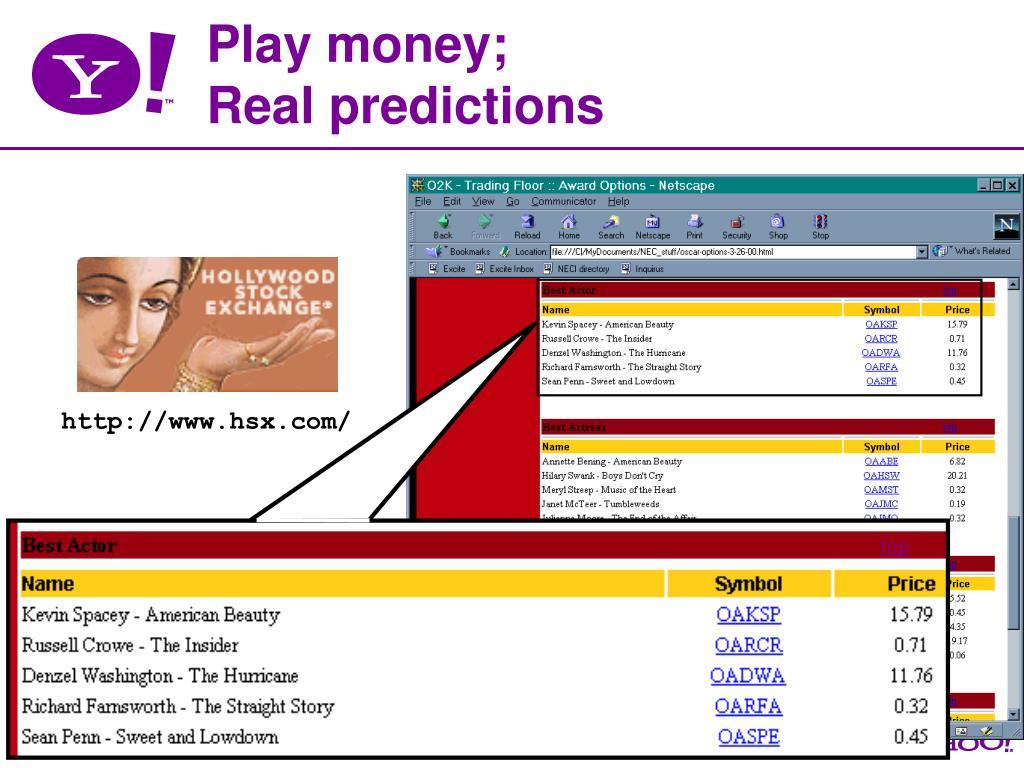 Play money;