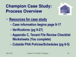 champion case study process overview68