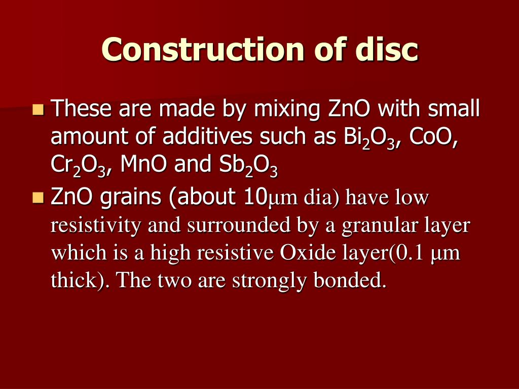Construction of disc