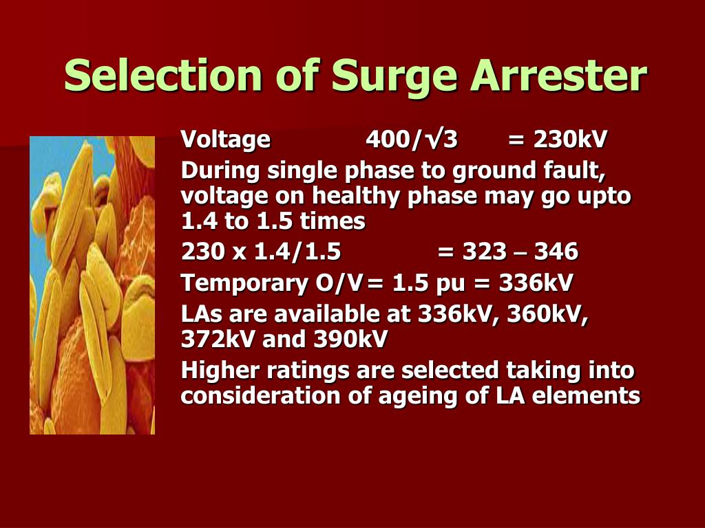 Selection of Surge Arrester