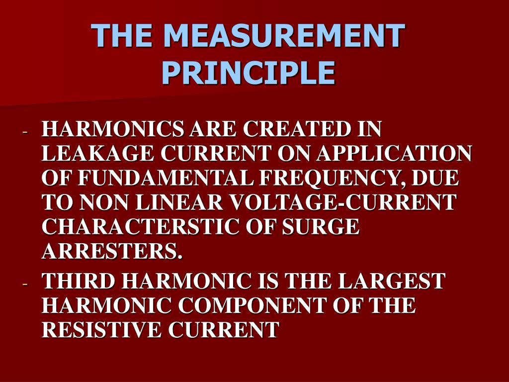 THE MEASUREMENT PRINCIPLE