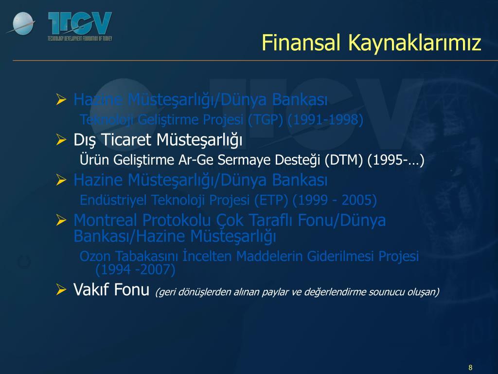Finansal Kaynaklarımız