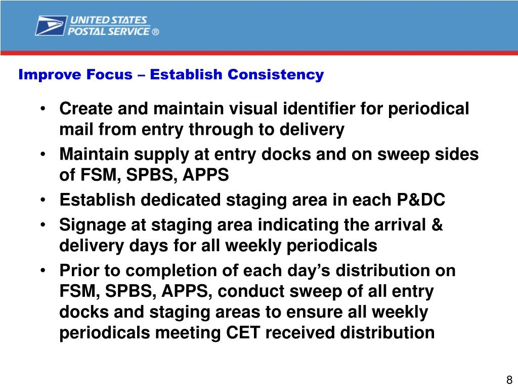 Improve Focus – Establish Consistency
