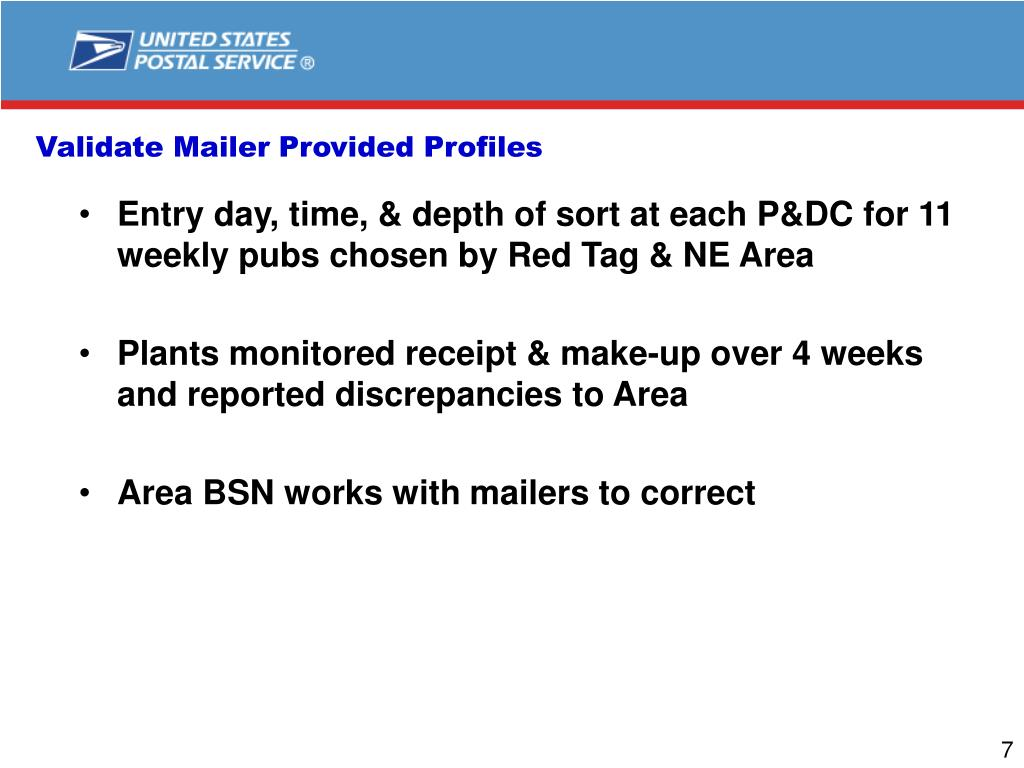 Validate Mailer Provided Profiles