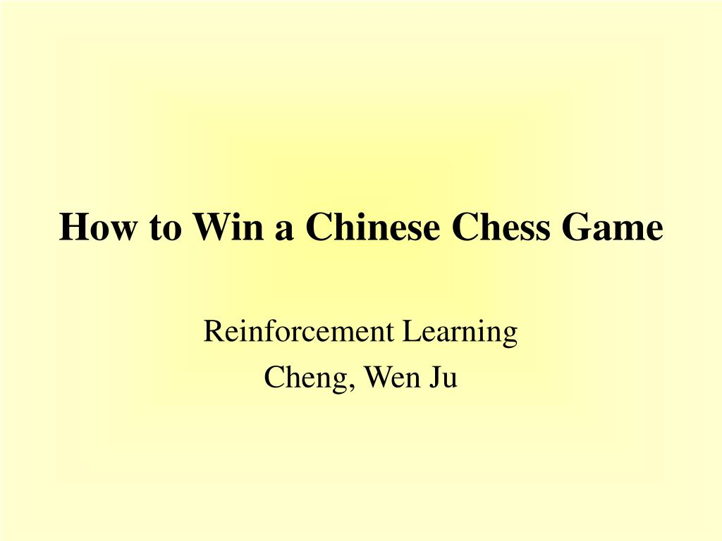how to win a chinese chess game l.